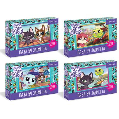 Пазл 54 Littlest Pet Shop.Прогулки по го